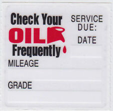 *50* Oil Change Reminder Stickers *Clear Static Cling Decals* Fast Free Shipping