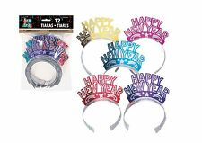 12 Happy New Year Party Tiaras Gold Hot Pink Blue Purple Red Glitter
