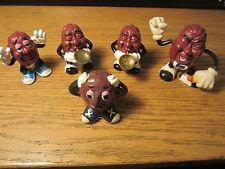 Lot of 5 California Raisin PVC Figures CalRab Band Members Great Condition!