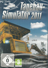PC CD-ROM + Tagebau Simulator 2011 + Bagger + Bulldozer + Radlader + Win 7