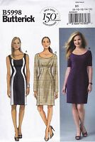 Butterick Easy Sewing Pattern Misses'/Women's Fitted Dress Sizes 8 - 24W B5998