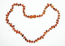Natural Baltic amber baby necklace, cognac chips beads 33 cm/13 inch
