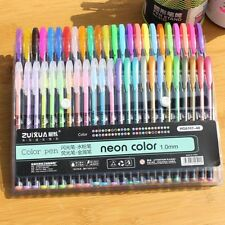Rollerball Book Neon Gel Ink Pens Set Drawing Painting Coloring Art Markers