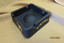 Camel Cigarette Black Satin Ceramic Square Ashtray 3-5/8 X 3-5/8