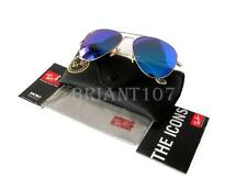 Unisex Sunglasses Ray-Ban RB3025 Aviator Gold/Blue Mirror 112/17  58mm+Gift bag