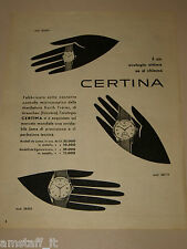 *20=CERTINA OROLOGIO WATCH=1954=PUBBLICITA'=ADVERTISING=PUBLICIDAD=WERBUNG=