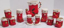 1962 Napco Kelvin's Boot-Santa's Boot Set with Candle Holders/Salt Pepper
