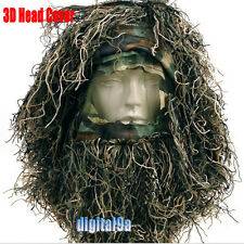 Grass Ghillie Yowie 3D Quiet Tactical Camouflage Head Cover Hood WG-Sniper Hat