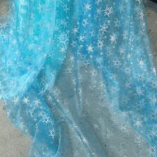 Princess Elsa Cloak  snowflake organza cape glitter frozen fabric tecidos 59 ""