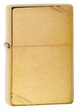 Zippo Vintage Brushed Brass, 1937 Replica Lighter,  240, New In Box
