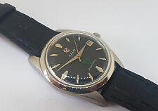 RARE VINTAGE 70'S RADO GREEN HORSE BLACK DIAL DATE AUTO MAN'S WATCH