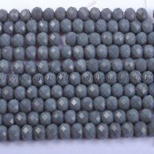 20PcsOpaque Gray Quality Czech Crystal Faceted Rondelle Beads 10MM