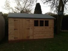 12x10WOOD  apex shed all 3x2 frame work &redwood cladding