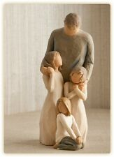 Willow Tree Father with 3 Daughters Figurines Gift    22959