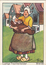 N°20 Dress Robe Mother Netherlanders Nederland Funny costumes IMAGE CARD 60s