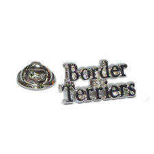 Border Terrier LAPEL PIN BADGE Owner Shepher Dog Trainer Walker Present GIFT BOX
