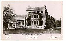 Newport RI-GEORGE S SCOTT MANSION-RPPC Postcard Asbestos Shingles Advertisement
