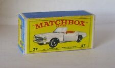 Repro Box Matchbox 1:75 Nr.27 Mercedes Benz 230 SL