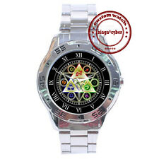 NEW Legend Of Zelda Triforce Symbol CUSTOM CHROME MEN WRIST WATCH