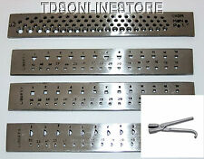 Set Of 4 Steel Draw Plates: Rd, Half Rd, Sq, And Tri, W Drawning Tongs