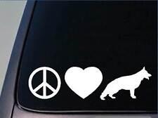 """Peace love German Shepherd sticker *H89* 8"""" vinyl schutzhund"""