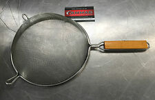 Chef Set Wire Single Mesh Strainers Wood Handles 20cm