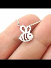 FREE GIFT BAG Silver Plated Fish Animal Necklace Chain Xmas Costume Jewellery
