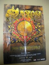 SAXON ADVERT OFFICIAL POSTER INTO THE LABYRINTH PROMO  CM 42x 59