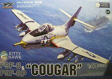 1/48 Grumman F9F-8 / -8P Cougar model Kit by Kitty Hawk Models