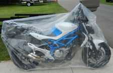 1997-13 Motorcycle Plastic Temporary Universal  Disposable Cover Rain Dust Med
