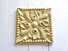 ARCHITECTURAL CARVED ROSETTE FURNITURE APPLIQUE-WOOD&RESIN-STAINABLE-PAINTABLE