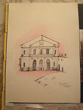 """Disegni a penna - artista foggiano sconosciuto - TEATRO COMUNALE """"S. MERCADANTE"""""""