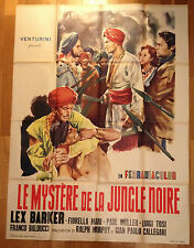 AFFICHE CINEMA film movie 1954 LE MYSTERE DE LA JUNGLE NOIRE Lex Barker