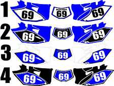 2012-2015 Yamaha WRF450 WRF 450 WR F Number Plates Side Panels Graphics Decal
