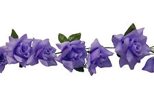 LAVENDER ~ Rose Garland ~ Silk Wedding Flowers Arch Gazebo Reception Decoration