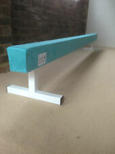 "finest quality gymnastics gym balance beam 6FT long 12"" high TURQUOISE BRAND NEW"