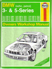 BMW 3 & 5 Series sohc Petrol Haynes Owners Workshop Manual 1981-1993