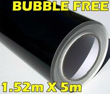 GLOSS BLACK 3 LAYERED VINYL ROLL FULL CAR VEHICLE WRAP 1.52M X 5M BUBBLE FREE