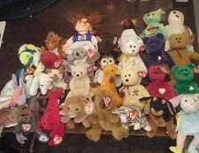 Big TY BEANIE BABY BABIES Collection MIXED Lot bears people butterfly cats dogs