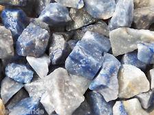 1 LB BLUE QUARTZ Brazil Bulk Rough Rock Stones Tumbling 2200+ CARAT