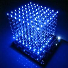 1PCS 3D Light Squared DIY Kit 8x8x8 3mm LED Cube Blue Ray LED NEW