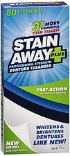 Stain Away Plus Denture Cleanser 8.10 oz (Pack of 2)