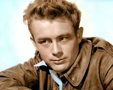 "JAMES DEAN HOLLYWOOD ACTOR HOLLYWOOD ICON (5) 8x10"" HAND COLOR TINTED PHOTOGRAPH"