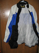 Motorcycle Jacket Fieldsheer Apparel Small White Blue Nylon Polyester FREE SHIP