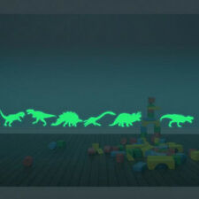 9PCS Dinosaur  Fluorescent  2016 Kids Room Home Decor Wall Stickers Luminous