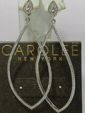 Carolee Drop Elongated Hoop Earrings