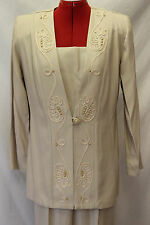 Pride & Joy Size 8 Tan/Beige Pant Suit/Mother/Grandmother of the Bride/Formal