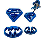 4pcs Christmas Batman Superman Pastry Cake Cookie Cutter Biscuit Mould Mold