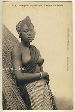 Senegal FOUTA WOMAN / NACKTE FRAU * Vintage 10s Ethnic Nude PC FORTIER #1333