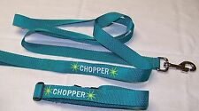 Dog Collar and Leash Personalized with name, Unisex, Adjustable, L, Large